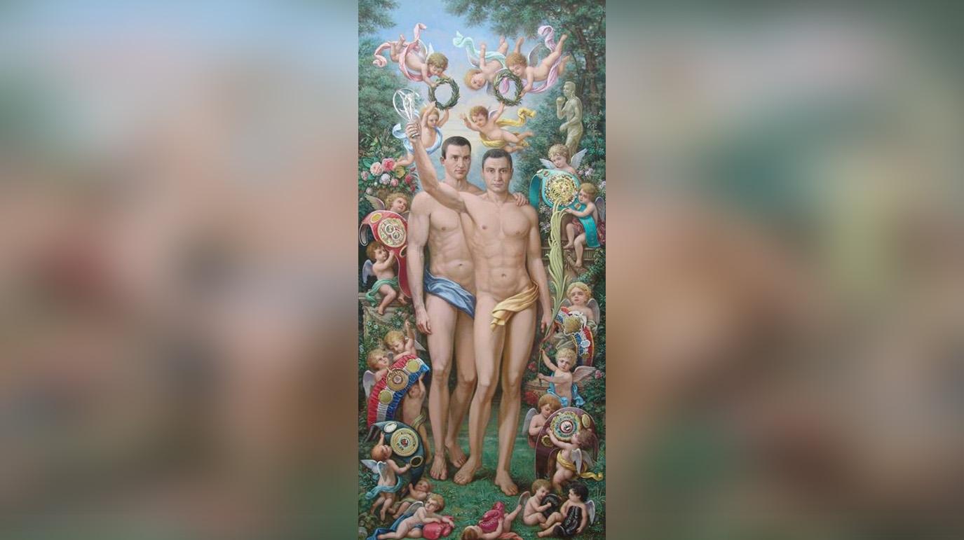 Не поверила: Захарову шокировала картина за $50 тысяч с голыми братьями Кличко