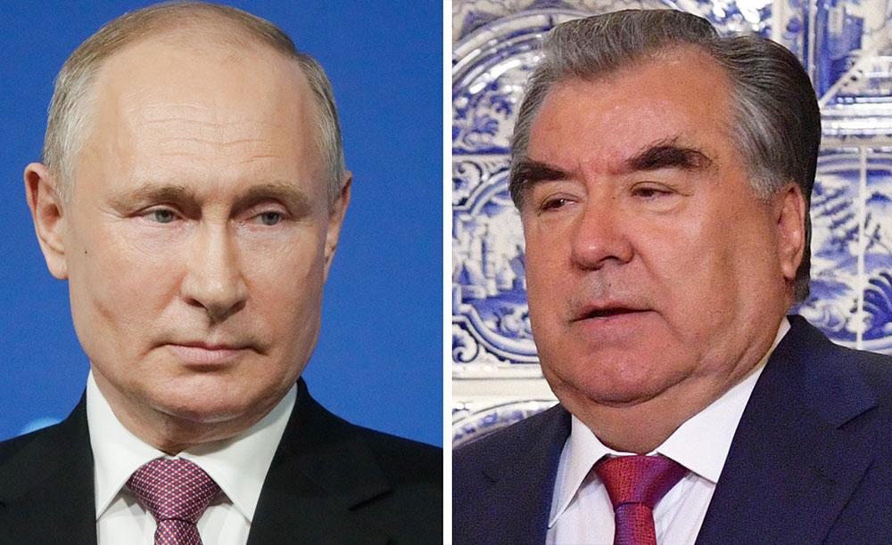 Путин обсудил с президентом Таджикистана ситуацию на афганской границе