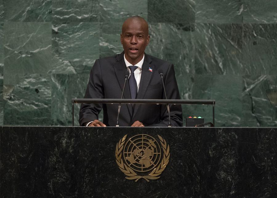"<p>Президент Гаити Жовенель Моиз. Фото © Twitter / <a href=""https://twitter.com/UNGeneva"" target=""_blank"" rel=""noopener noreferrer"">UN Geneva</a></p>"