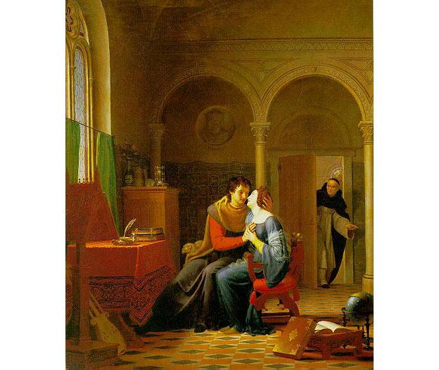 "Жан Виньо, ""Каноник Фульбер застаёт врасплох Абеляра и Элоизу"". Фото © Wikipedia"