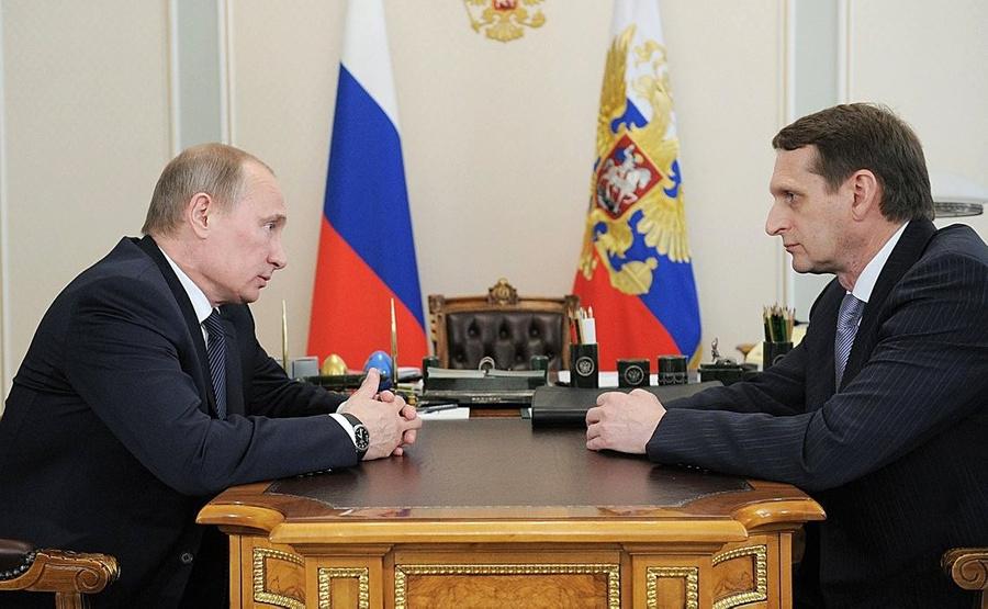 """<p>Владимир Путин и Сергей Нарышкин. Фото © <a href=""""http://www.kremlin.ru/"""" target=""""_blank"""" rel=""""noopener noreferrer"""">Kremlin.ru</a></p>"""