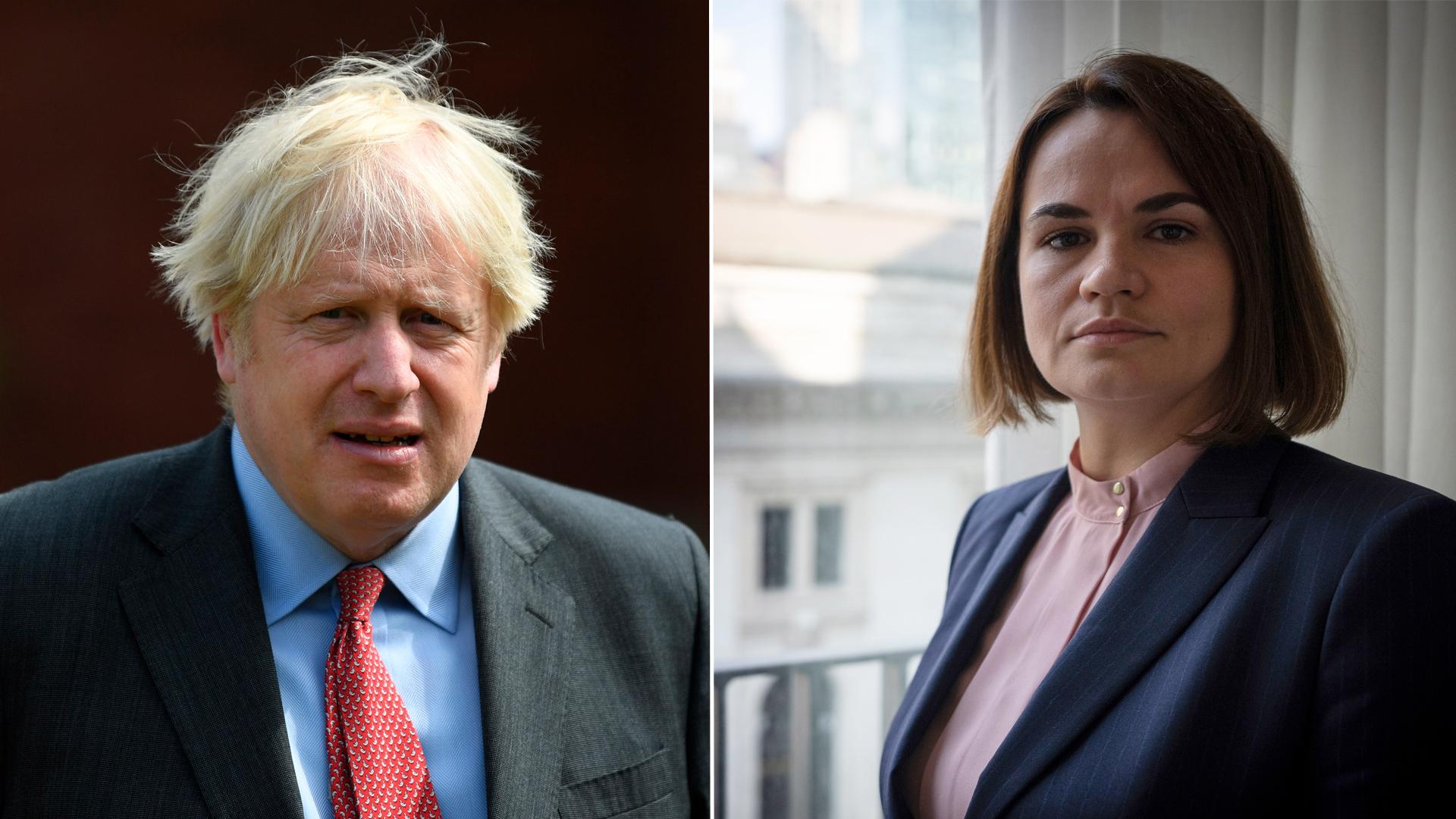 Борис Джонсон провёл встречу с Тихановской в Лондоне