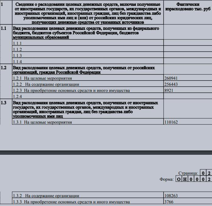 Отчётность школы Brookes. © Министерство юстиции РФ
