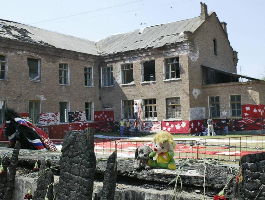 Школа, в которой произошёл теракт. Фото © ТАСС / Сергей Узаков