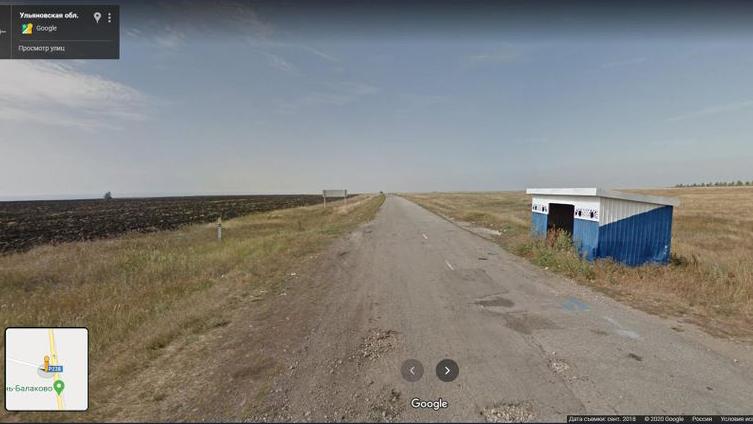 Место обнаружения трупа Натальи Асияновой. Побочная дорога автотрассы Р228. Фото © google.ru / maps