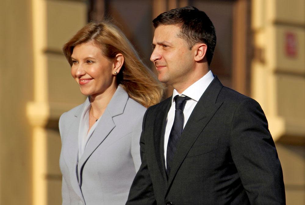 Президент Украины Владимир Зеленский и его супруга Елена Зеленская. Фото ©ТАСС / ЕРА / TOMS KALNINS