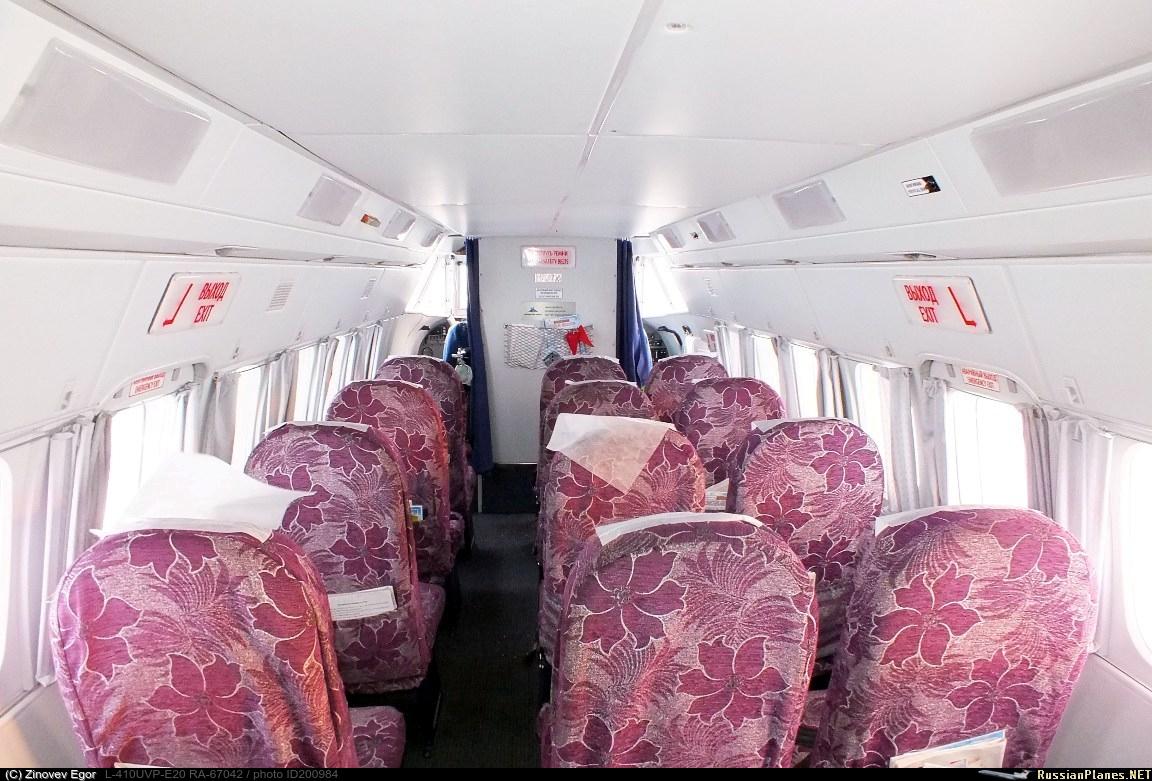 Так выглядел салон самолёта. Фото © russianplanes.net / Зиновьев Егор