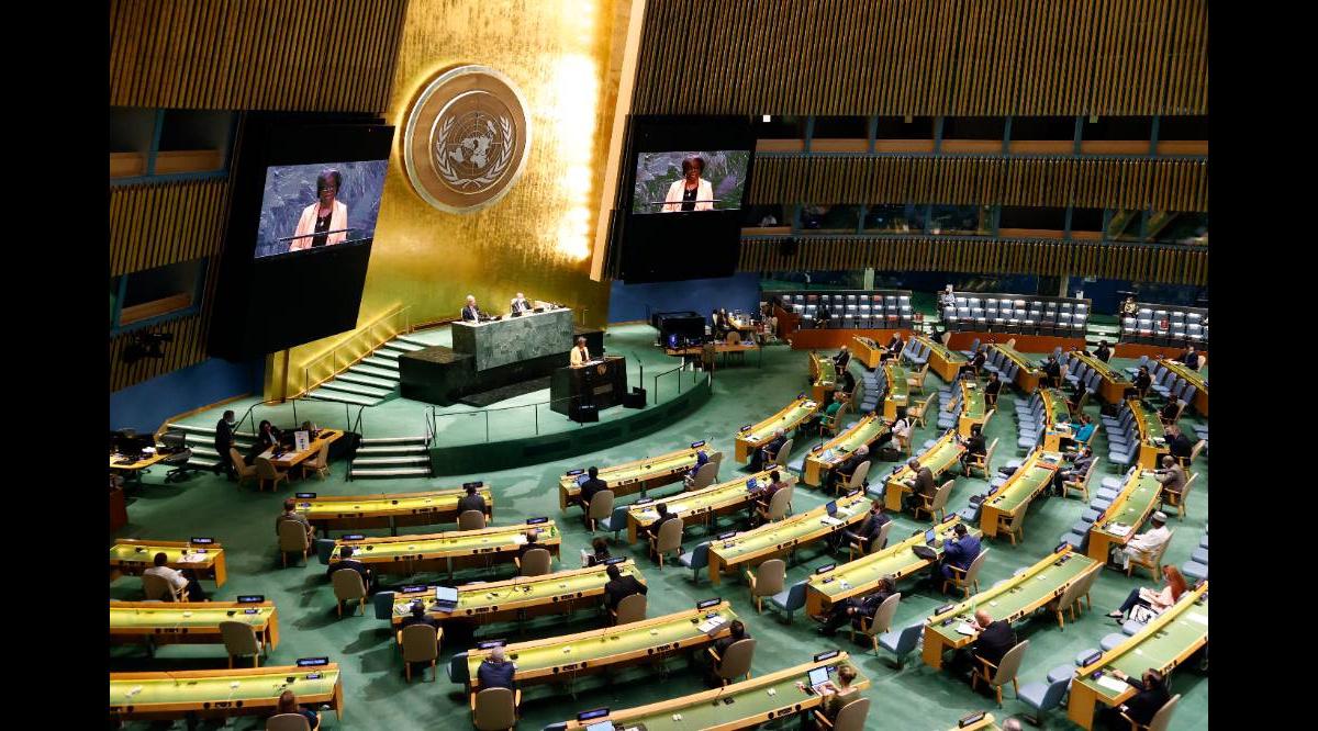 278729837508.22675 Россия выступила против допуска в зал Генассамблеи ООН только вакцинированных