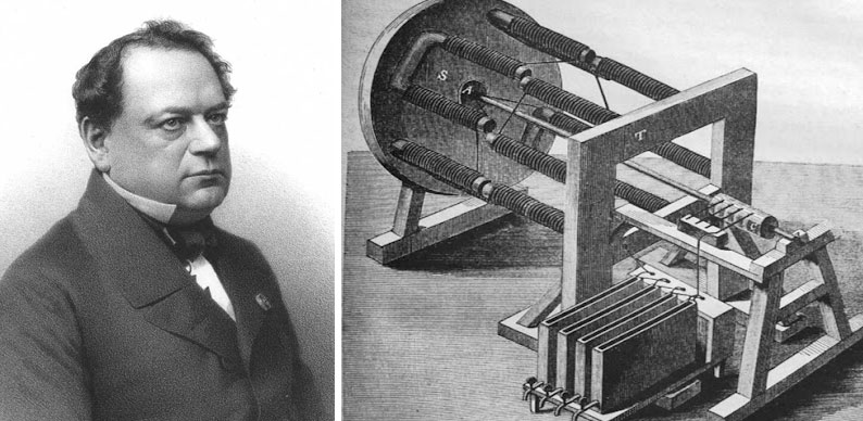 Борис Якоби и электродвигатель Фото © Wikipedia