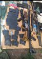 """Оружие, боеприпасы и амуниция, обнаруженные в """"ниве"""" Виктора Мирского. Фото © t.me / ВЧК-ОГПУ"""