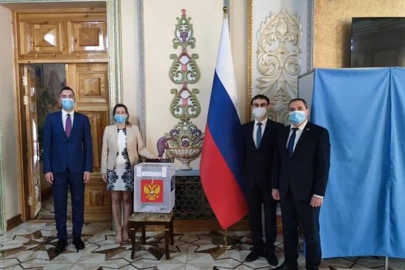 Посольство РФ в Узбекистане. Фото © Телеграм-канал МИД РФ