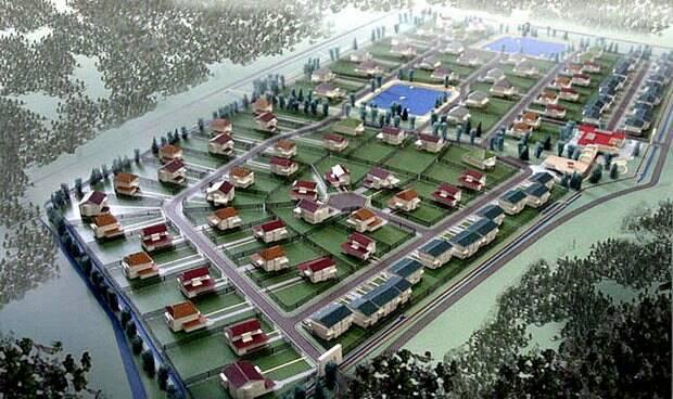 """Так должен был выглядеть посёлок в Баболовском парке. Фото © """"Новострой.су"""""""