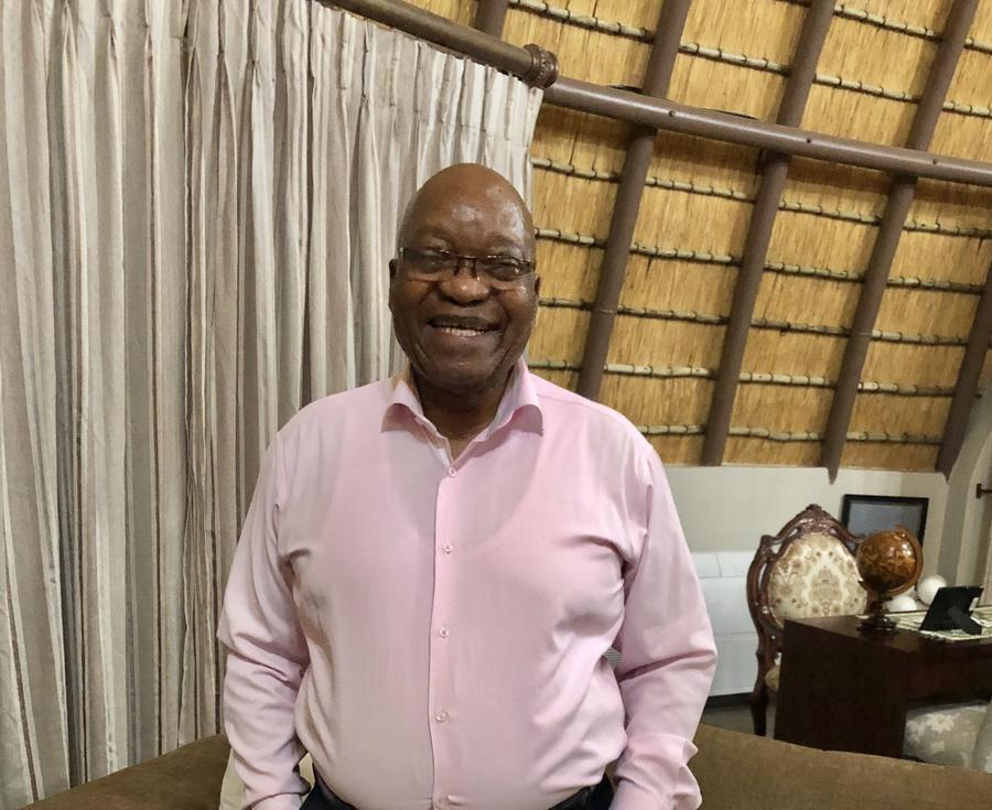 "<p>Джейкоб Зума. Фото © Twitter / <a href=""https://twitter.com/PresJGZuma/status/1116792474301636609/photo/1"" target=""_blank"" rel=""noopener noreferrer"">Jacob G Zuma</a></p>"