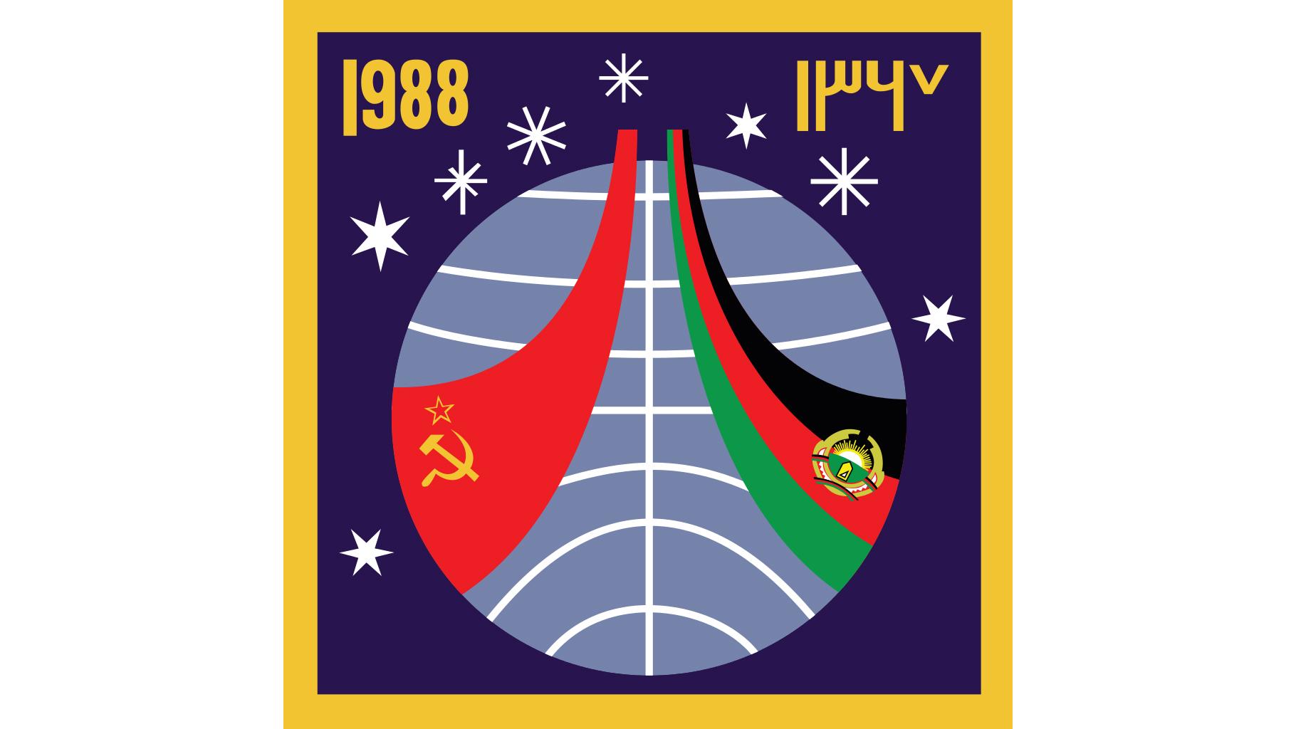 """Эмблема советско-афганской экспедиции на станцию """"Мир"""" в 1988 году. Союз ТМ-6 Фото ©wikipedia"""