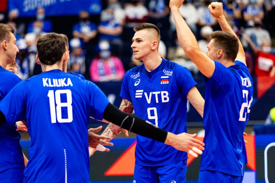 Сборная России по волейболу сыграет с Украиной в 1/8 финала чемпионата Европы