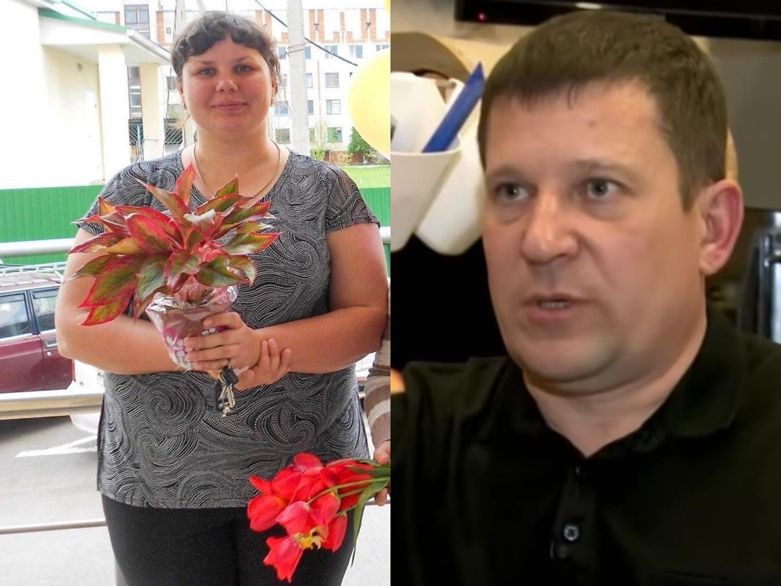 Слева —Марина Балмашева до похудения. Справа —Алексей Шавырин, отец Вовы. Фото © Instagram / marina_balmasheva. Скриншот © YouTube / Прямой эфир