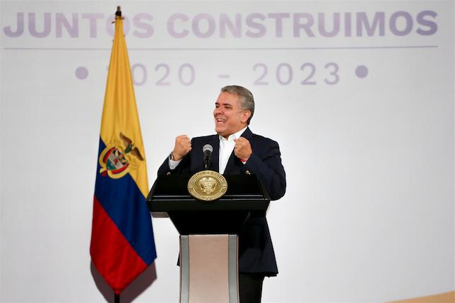 <p>Президент Колумбии Иван Дуке. Фото © ТАСС / Ivan Valencia / AP</p>