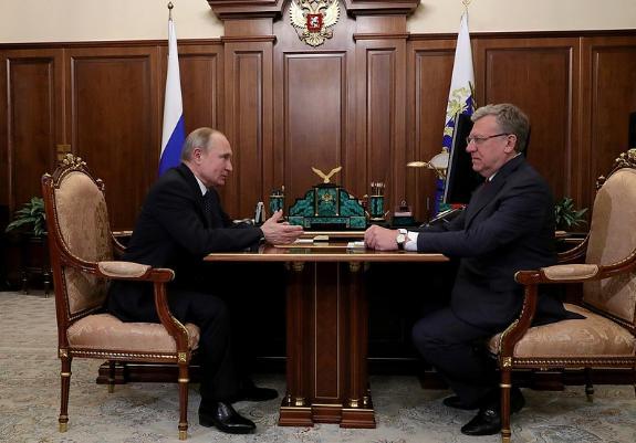 <p>Владимир Путин, Алексей Кудрин. Фото © Пресс-служба президента РФ</p>