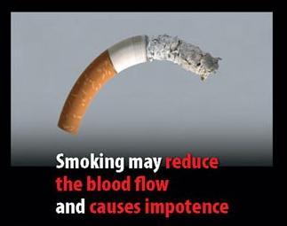 В Евросоюзе символически изображают импотенцию курильщика