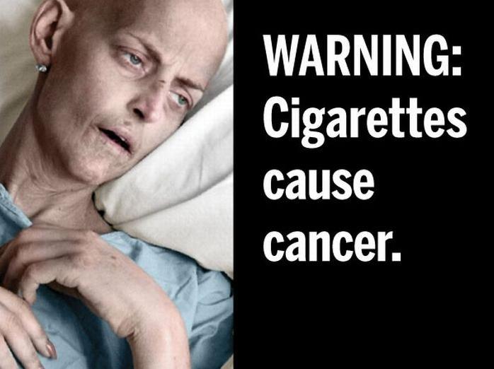 В США напоминают, что курение вызывает рак