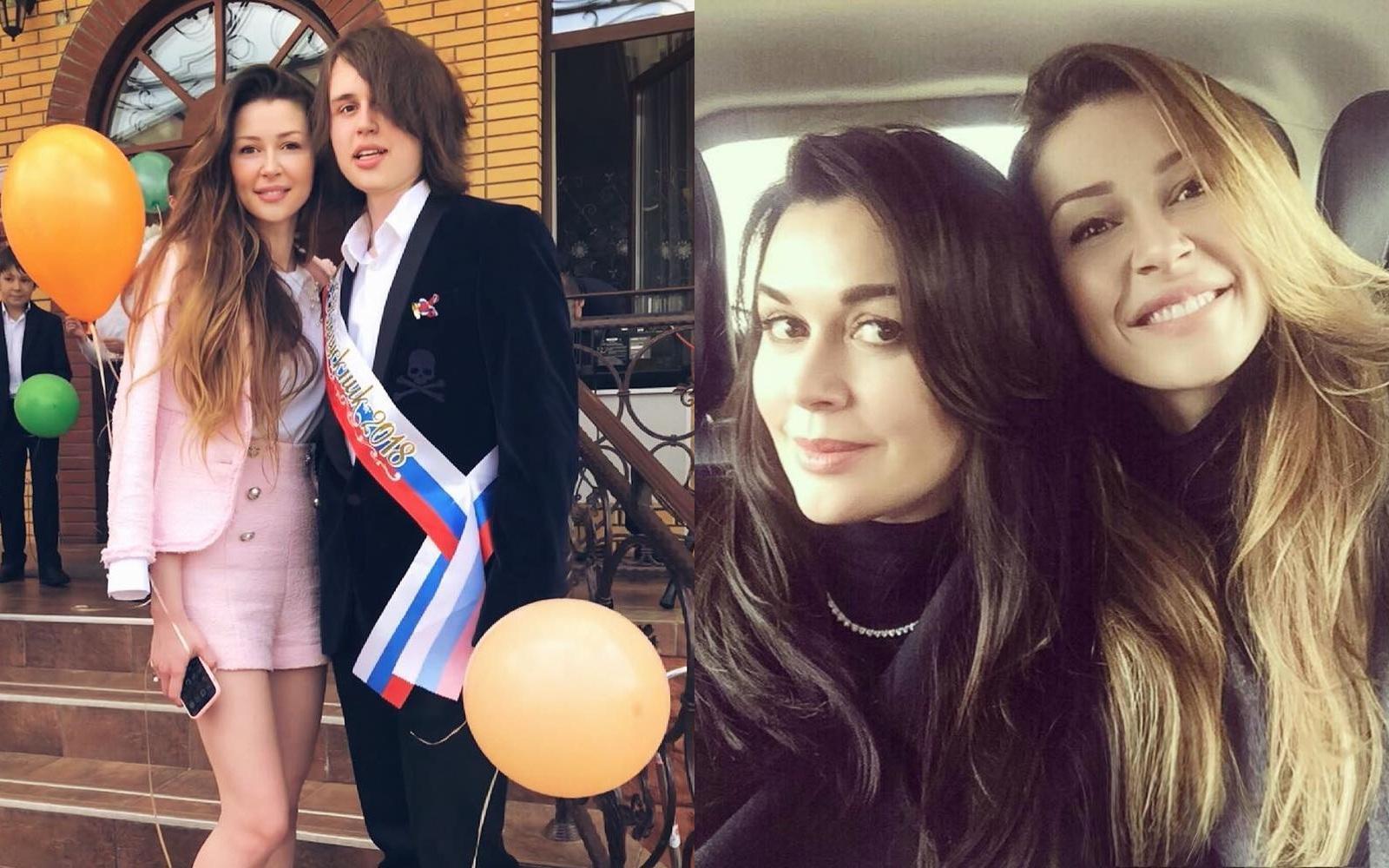 Слева — дочь Анастасии Заворотнюк Анна и сын Майкл, справа — Анастасия с Анной. Фото © Instagram/a_zavorotnyuk, anna_zavorotnyuk