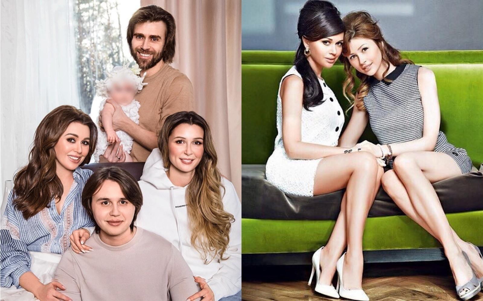Слева —Анастасия с детьми и мужем, справа — актриса с дочерью Анной. Фото © Instagram / a_zavorotnyuk