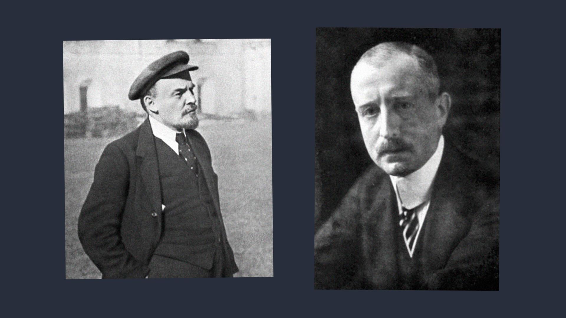 Ленин и немецкий посол Вильгельм фон Мирбах. Коллаж © LIFE. Фото © Wikipedia
