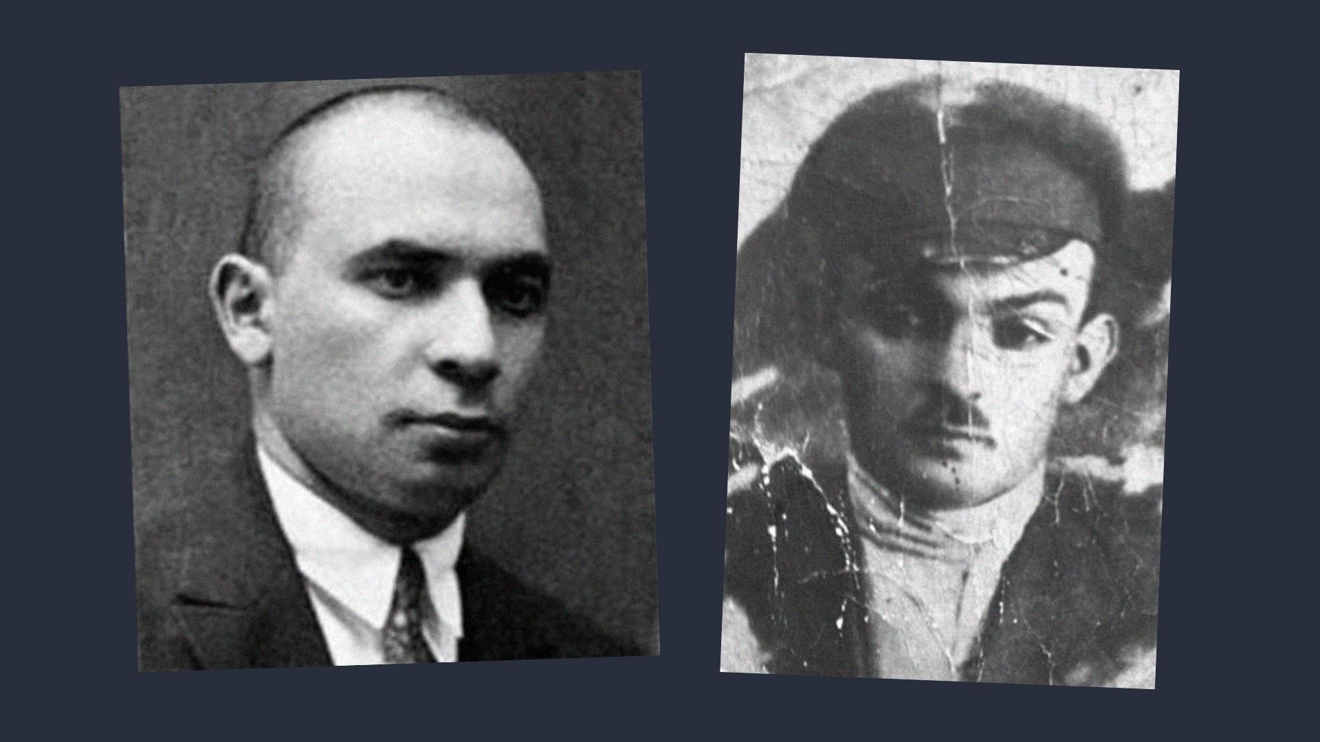 Яков Блюмкин (слева) и Мишка Япончик (справа). Коллаж © LIFE. Фото © Public Domain