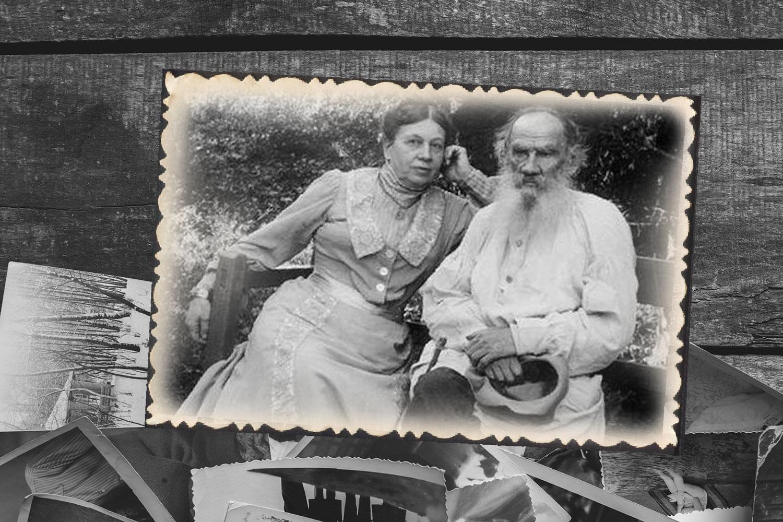 Лев Толстой со своей супругой Софьей. Коллаж © LIFE. Фото © Shutterstock, © Public Domain