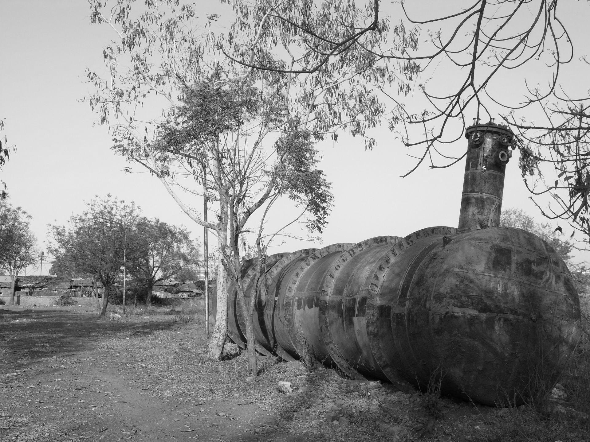 Резервуар, из которого вырвался смертоносный газ. Фото © Wikipedia