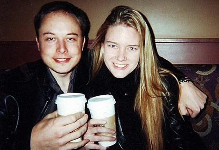 Илон Маск и его первая жена Джастин. Фото©Public Domain
