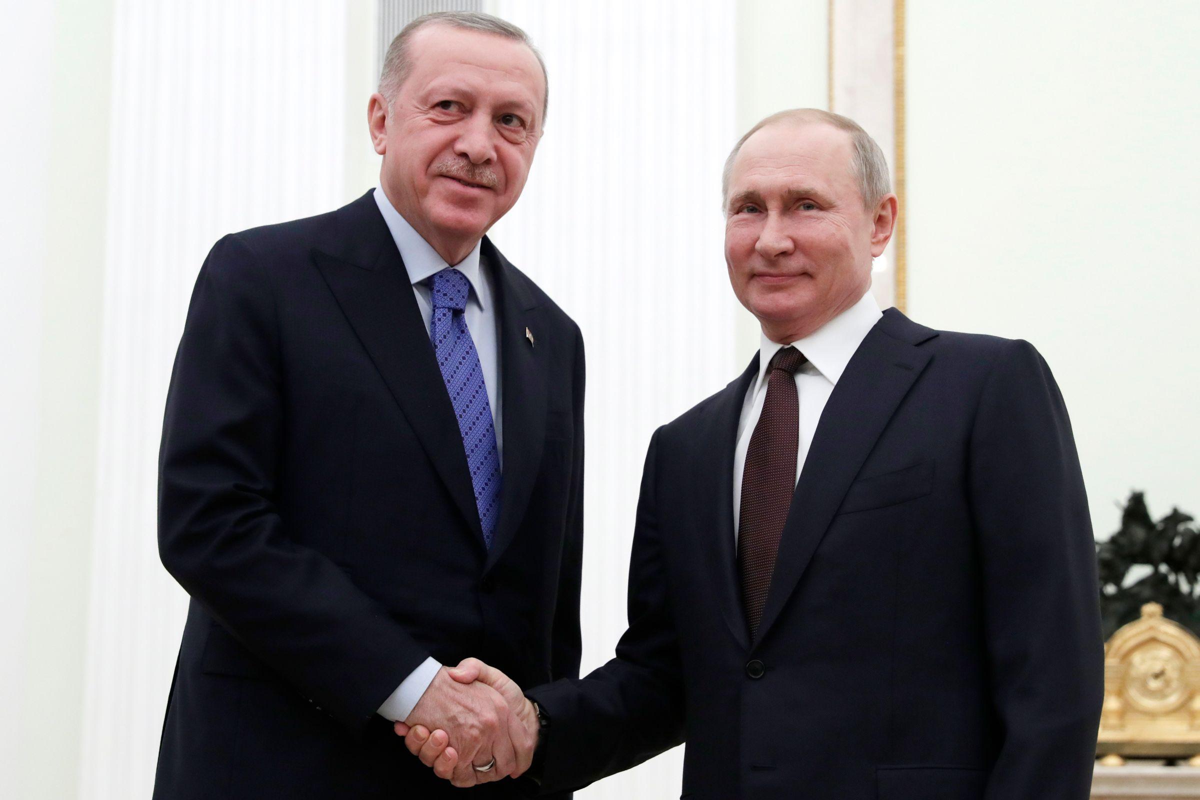 <p>Президент Турции Реджеп Эрдоган и президент России Владимир Путин. Фото © ТАСС / Михаил Метцель</p>