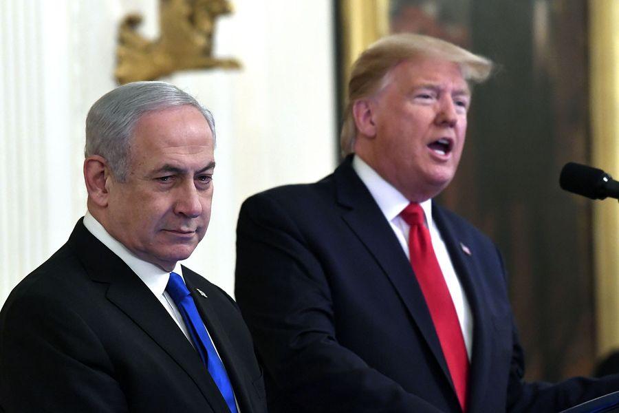 <p>Премьер-министр Израиля Биньямин Нетаньяху и президент США Дональд Трамп. Фото © AP Photo / Susan Walsh</p>
