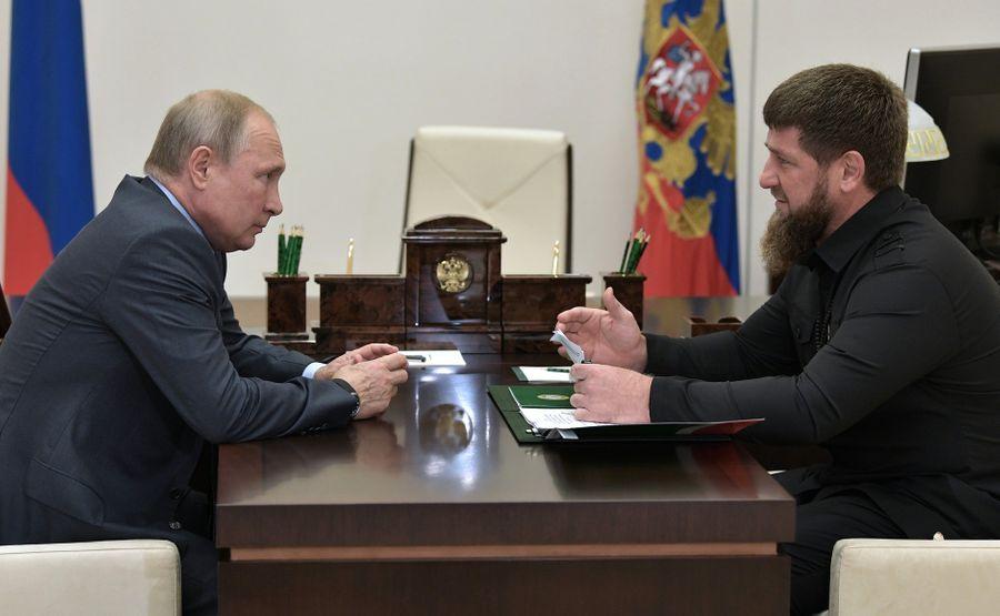 <p>Президент РФ Владимир Путин и глава Чечни Рамзан Кадыров. Фото © Kremlin</p>