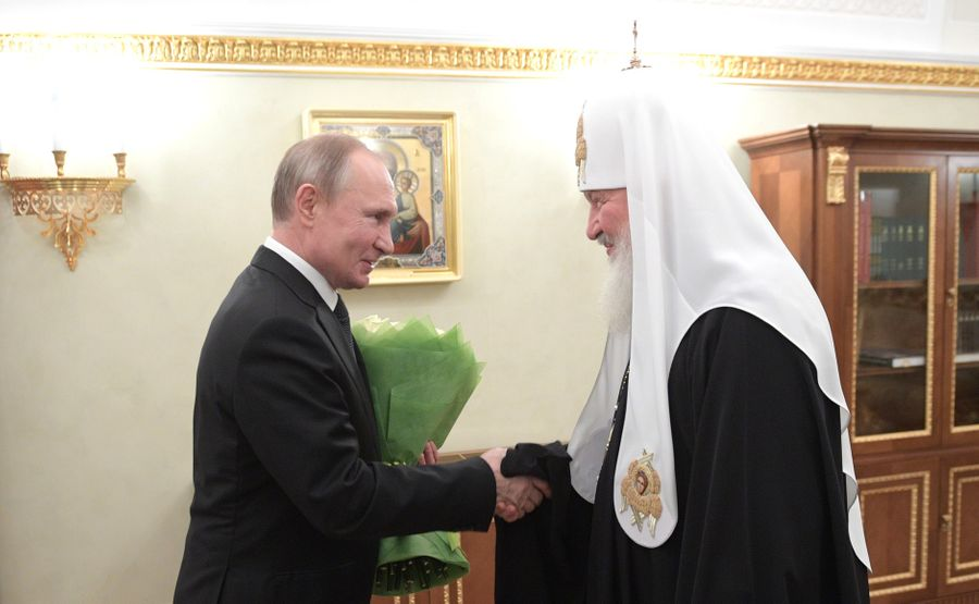 <p>Президент РФ Владимир Путин и Патриарх Московский и всея Руси Кирилл. Фото © Kremlin</p>