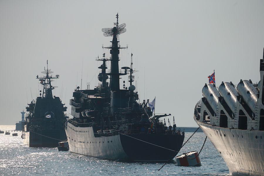 <p>Российские корабли в Севастополе. Фото © ТАСС / Владимир Смирнов</p>