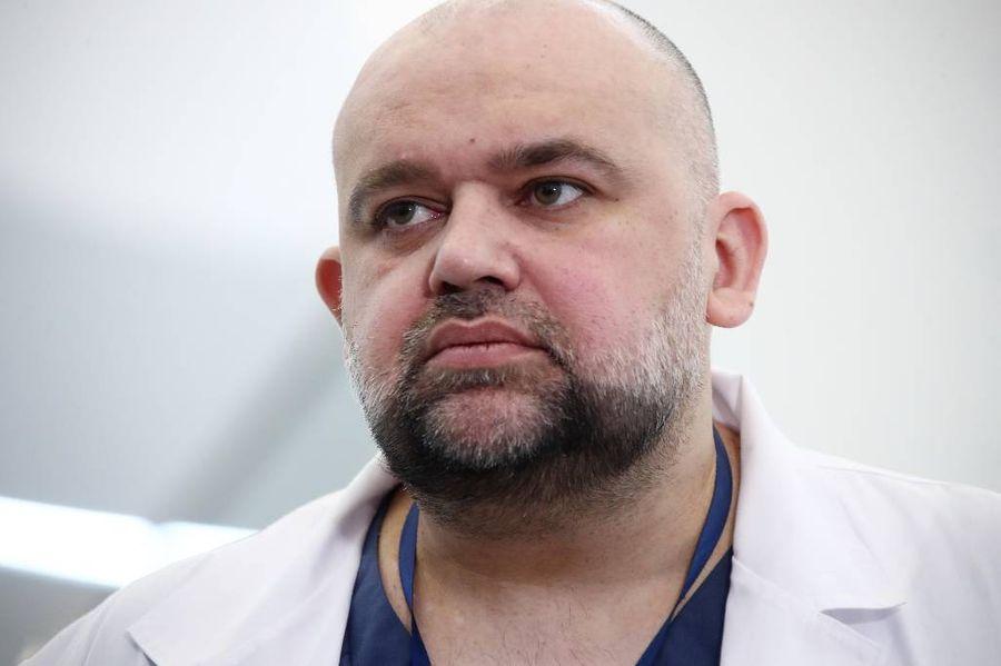 <p>Главврач больницы в Коммунарке Денис Проценко. Фото © ТАСС / Валерий Шарифулин</p>