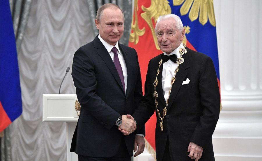 <p>Владимир Путин иЮрий Григорович. Фото ©Kremlin.ru</p>
