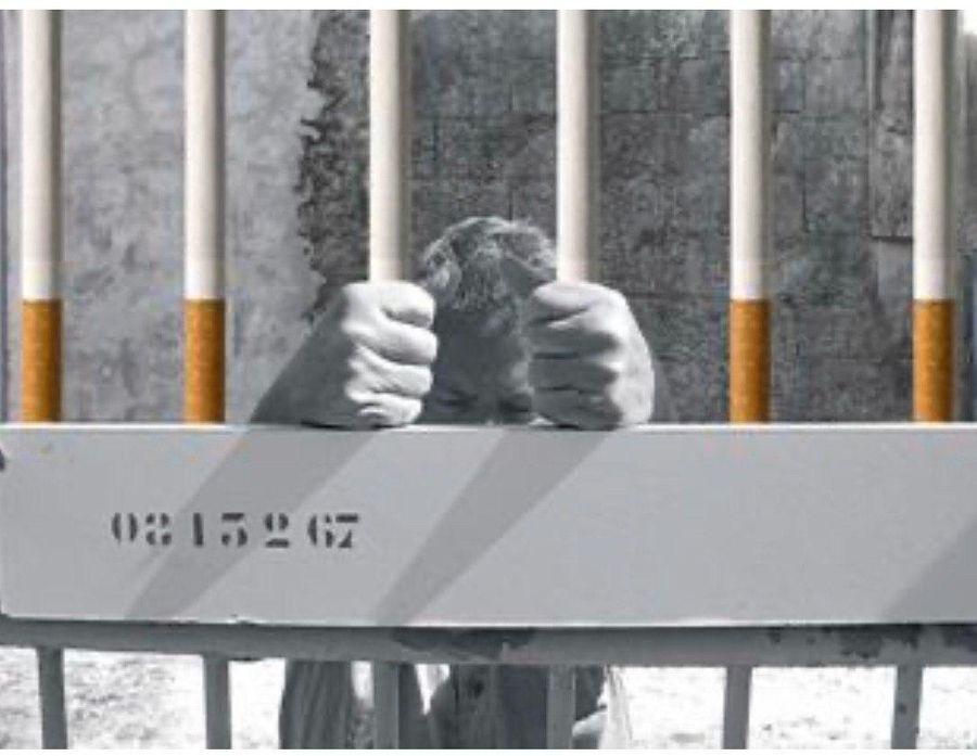 Украинские сигареты о том, что вредная привычка — это зависимость и тюрьма