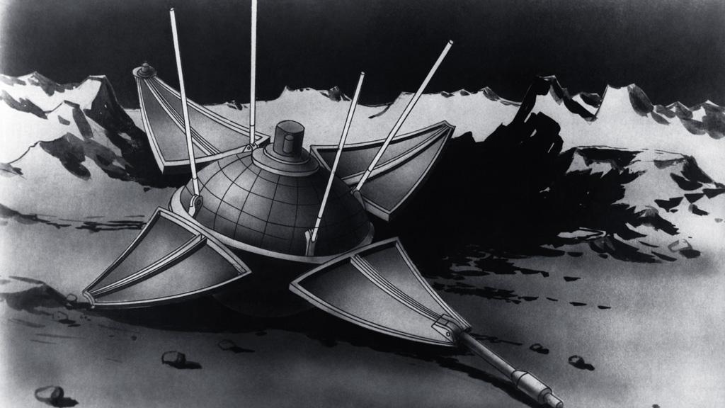 """Рисунок космической станции """"Луна-9"""". Репродукция. Фото © ТАСС"""