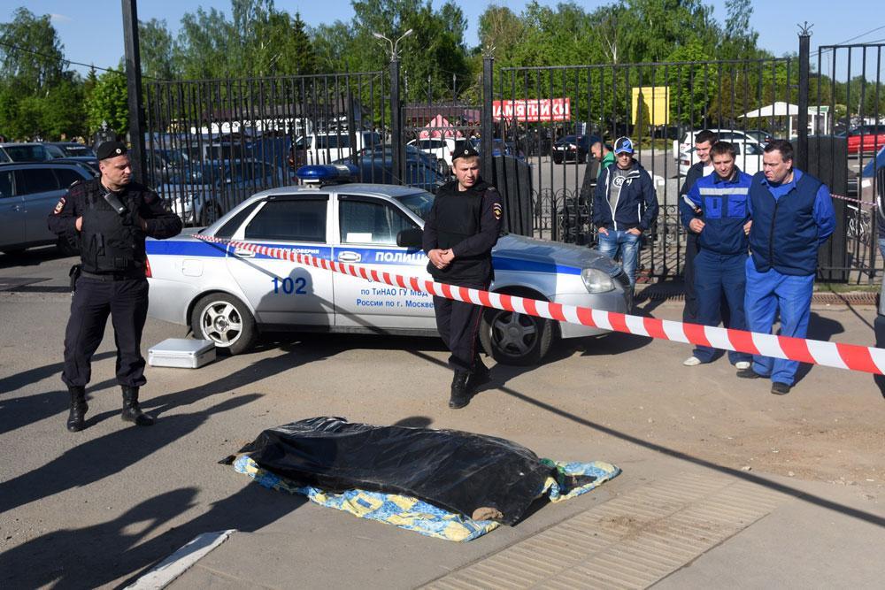 Инцидент на Хованском кладбище. Фото © ТАСС / Кузьмичёнок Василий