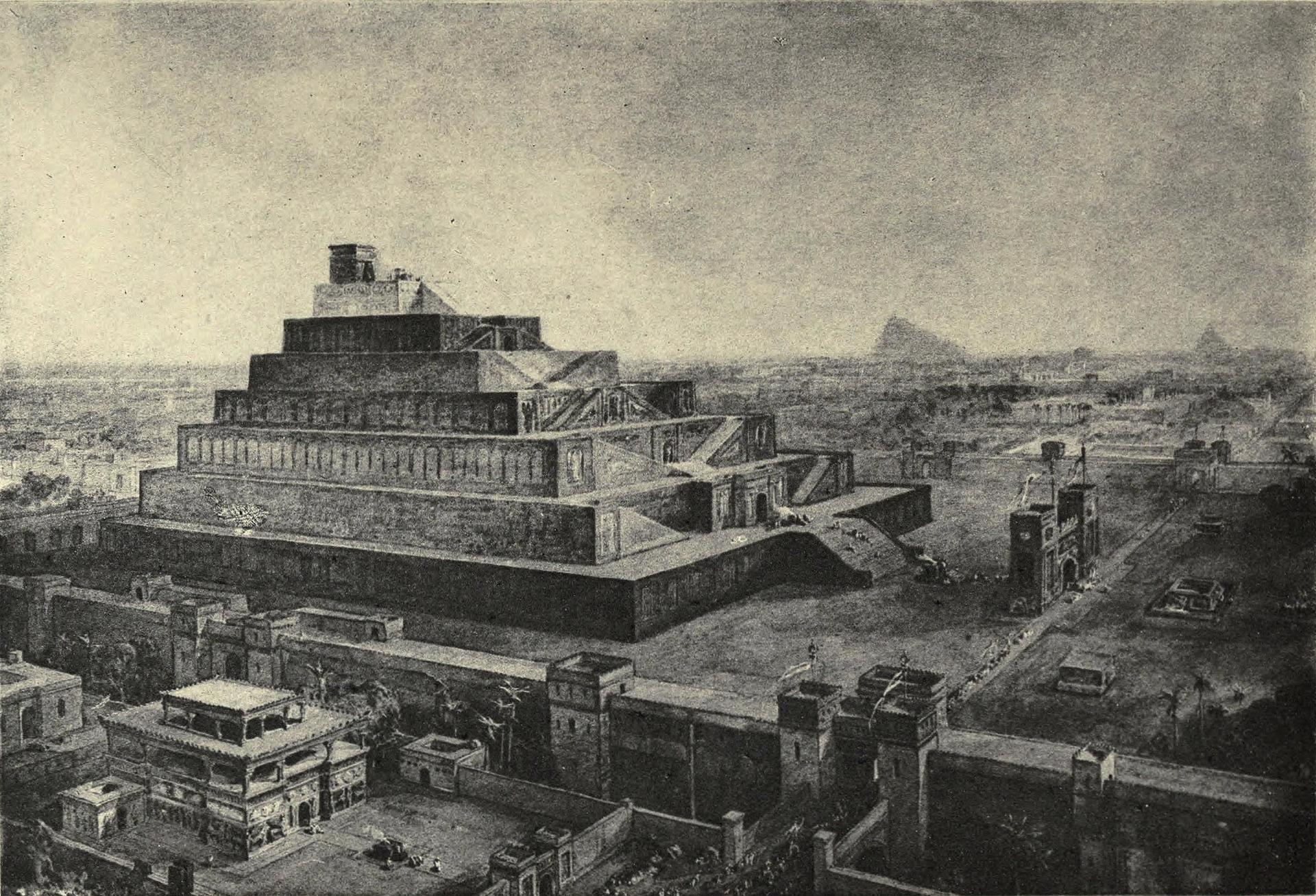 The walls of Babylon and the temple of Bel 1582973754422