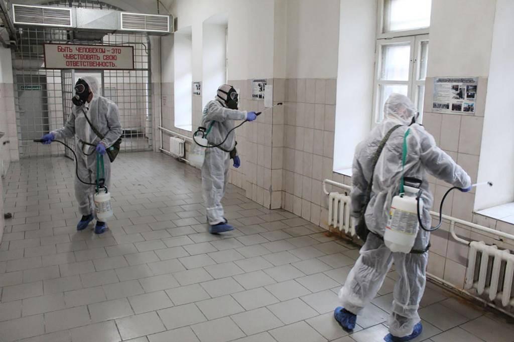 <p>Санитарная обработка помещений в одной из колоний. Фото © ТАСС / Пресс-служба ФСИН России</p>
