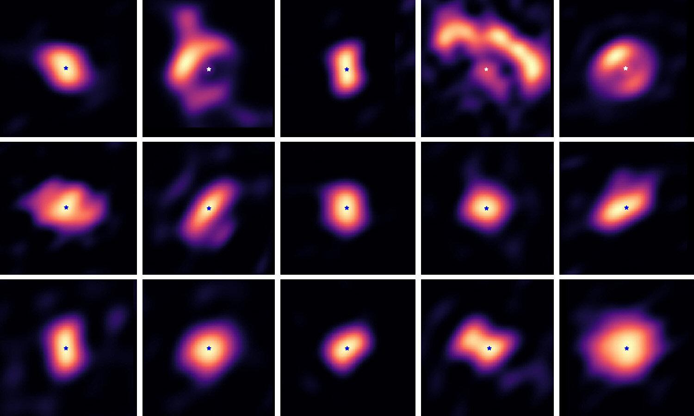 Протопланетные диски, снятые с помощью телескопа Very Large Telescope / © Kluska et al, 2020