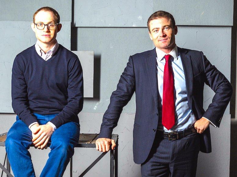 "Основатели ""Мани мен"" Александр Дунаев (слева) и Борис Батин (справа). Фото © BUSINESS INSIDER"