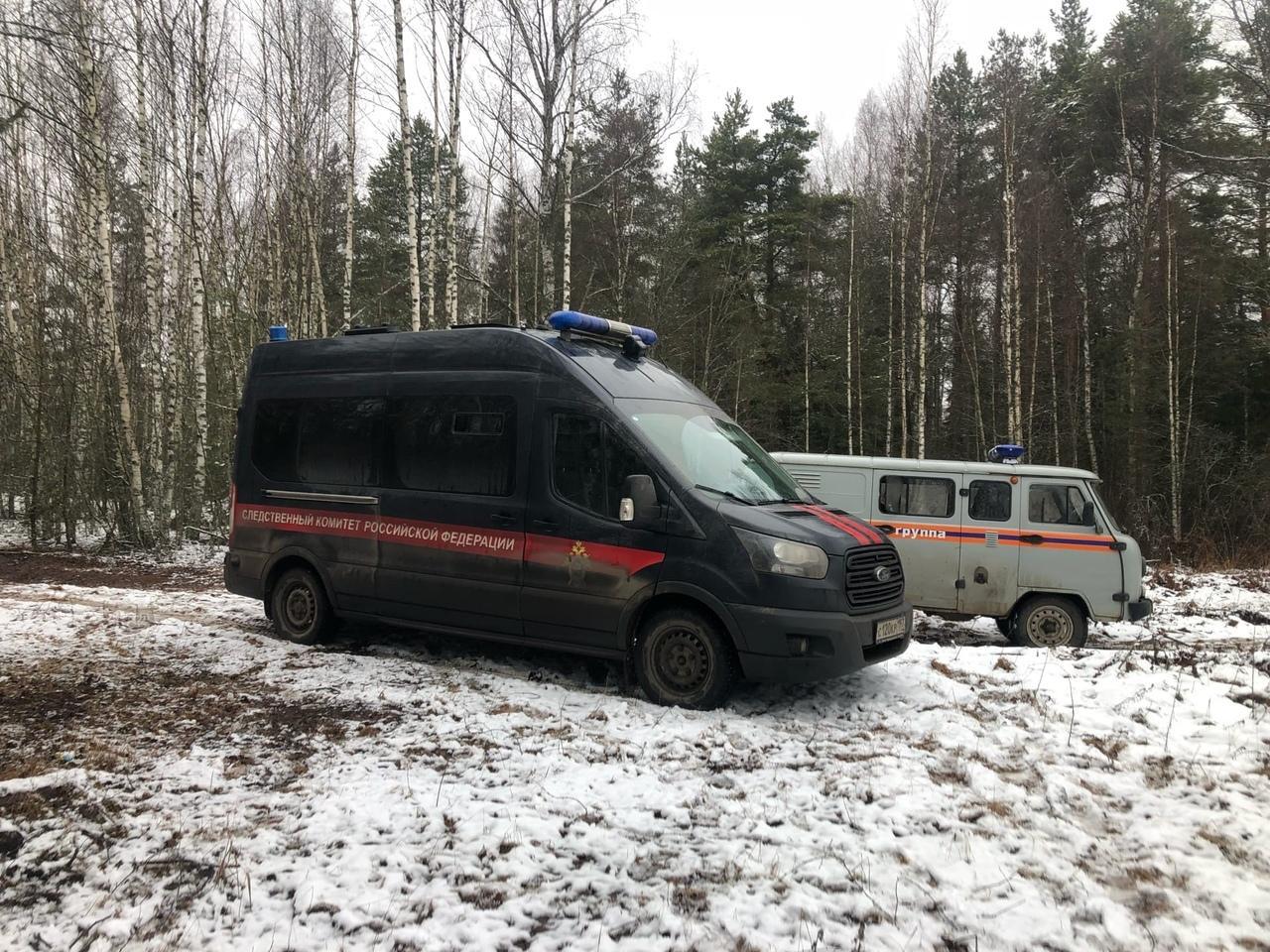 Машина СК на месте поисков. Фото © VK / Женя Матузов