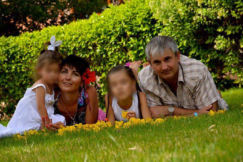 Владимир Гапоненко и его семья. Фото © Соцсети