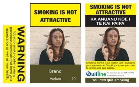 Сигареты в Новой Зеландии говорят, что курение плохо сказывается на внешнем виде